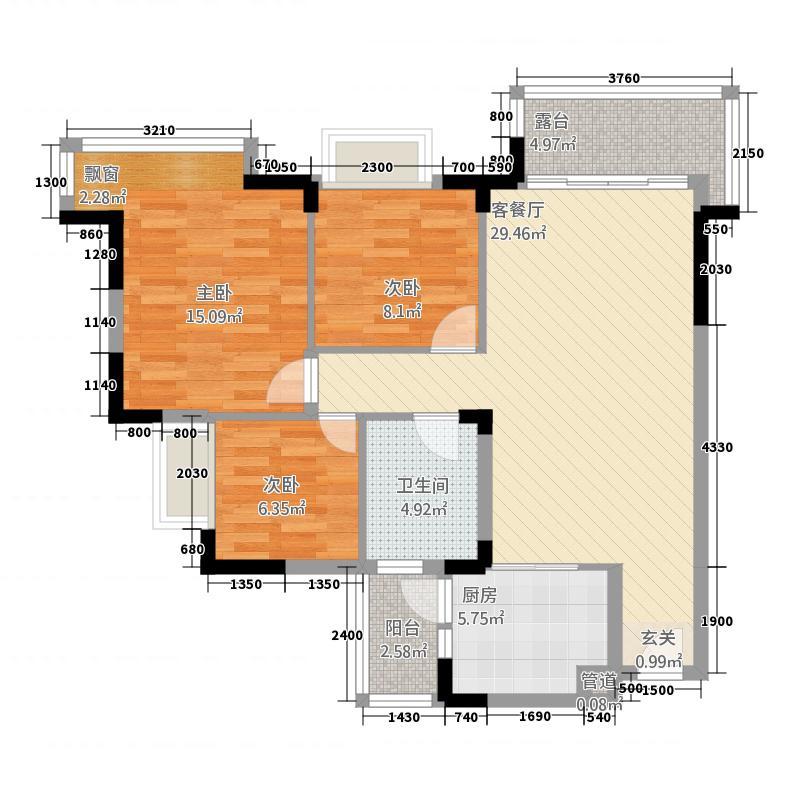 里维埃拉7.71㎡翠湖苑7、8栋05、0奇数层户型