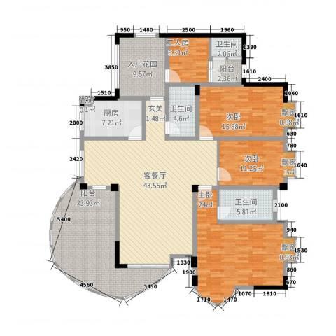 CLD未来城四期3室1厅3卫1厨176.95㎡户型图