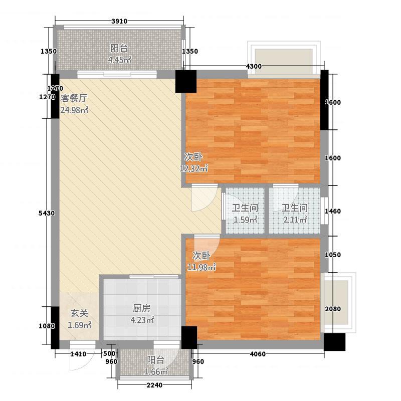 裕东雅筑户型3室2厅