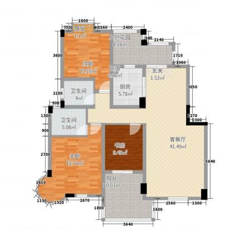 CLD未来城四期3室1厅2卫1厨132.61㎡户型图