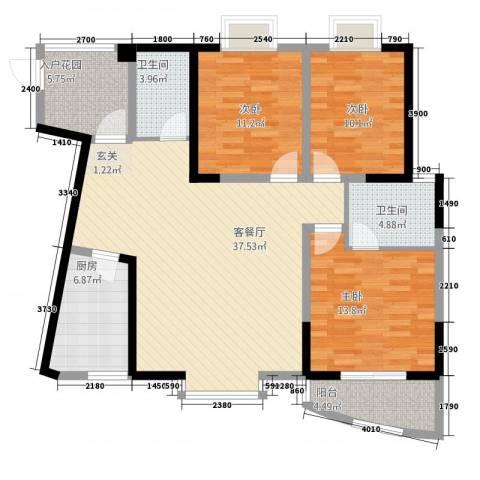 东方阁3室1厅2卫1厨1313.00㎡户型图