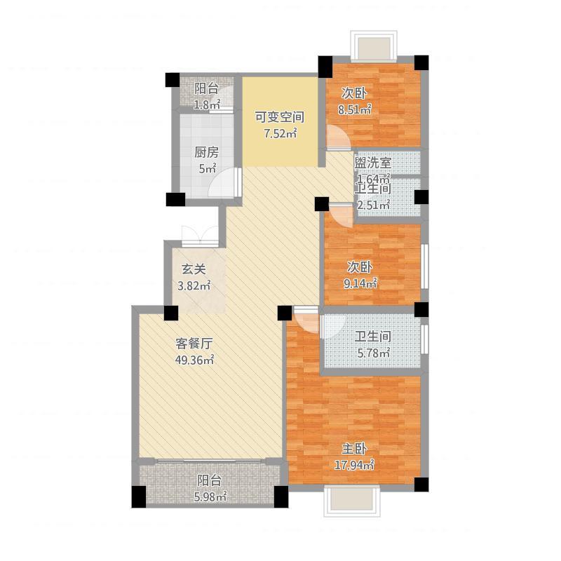 红河_亚澜湾J1户型41栋1单元101,201,301,40