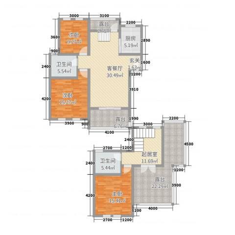 CLD未来城四期3室1厅2卫1厨149.67㎡户型图