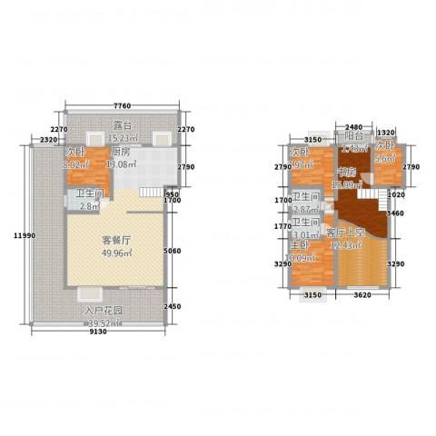 十里江南5室1厅3卫0厨237.00㎡户型图
