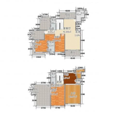 大观天下4室1厅3卫1厨225.00㎡户型图