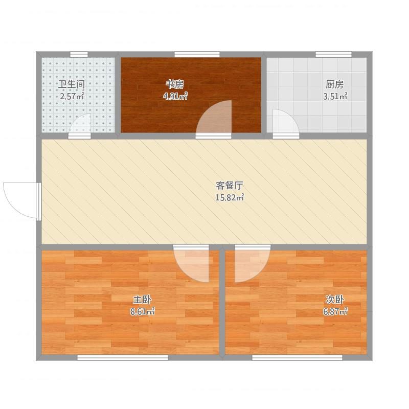 青岛_滨河路小区套三户型图_2015-10-30-1024