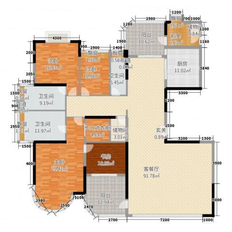 城市快线4室1厅3卫1厨327.00㎡户型图