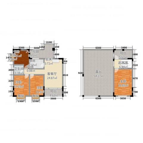 兴苑翠薇园4室1厅1卫1厨168.27㎡户型图