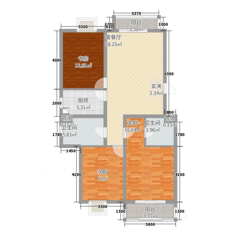 凤凰公社135.67㎡A户型3室2厅1卫1厨