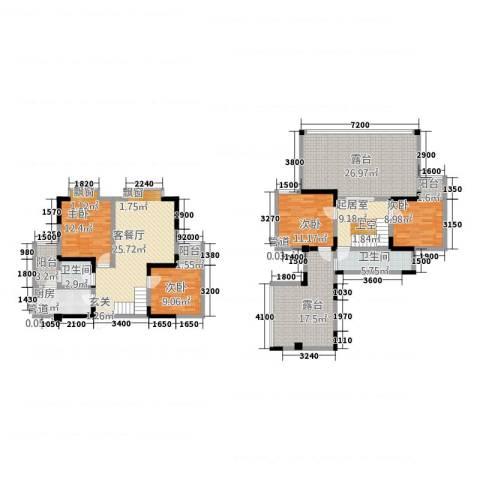 兴苑翠薇园4室1厅2卫1厨141.15㎡户型图