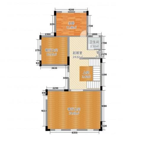 中信凯旋城别墅1室0厅1卫0厨118.00㎡户型图