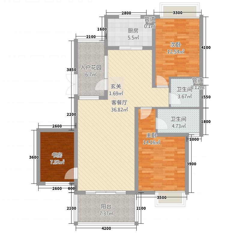 锦绣三门3115.67㎡户型3室2厅2卫1厨