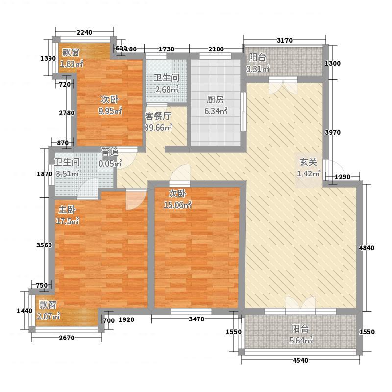 绿厦爵士汇74.00㎡绿厦爵士汇2室户型2室