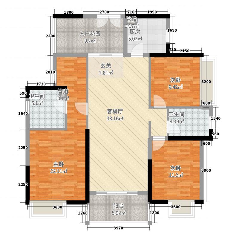 中信森林湖兰溪谷130.00㎡中信森林湖兰溪谷户型图8栋1-3单元标准层02户型3室2厅2卫1厨户型3室2厅2卫1厨