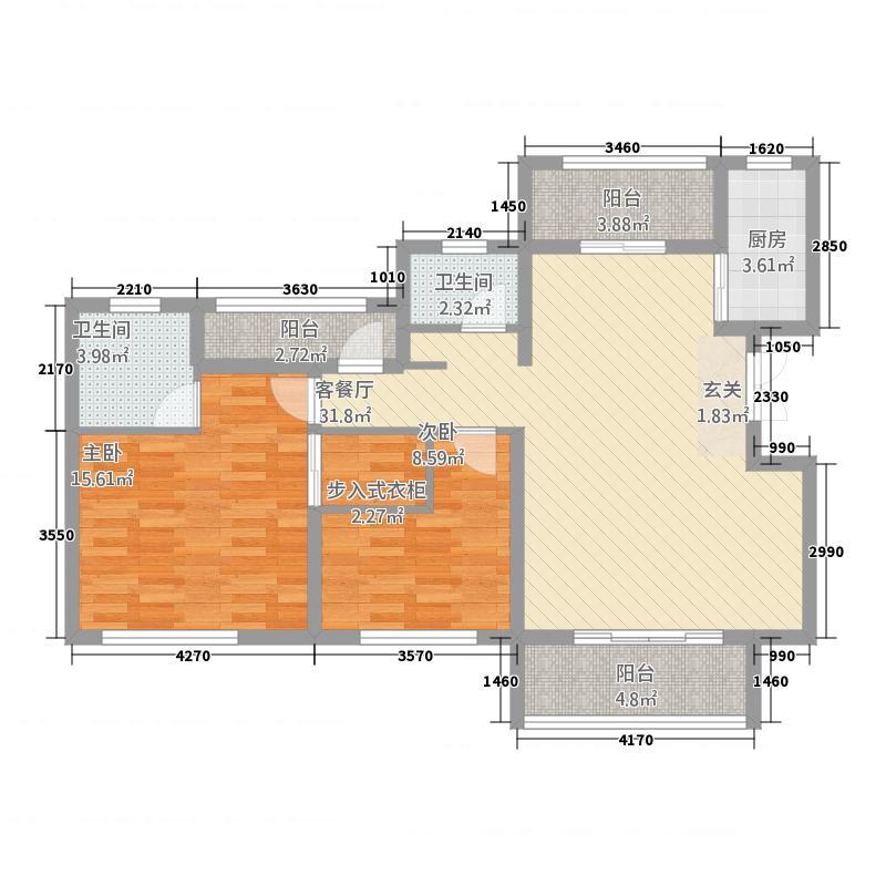 佳源都市116.00㎡13#、27#东侧26#、18#西侧、28#两侧E户型3室2厅2卫1厨