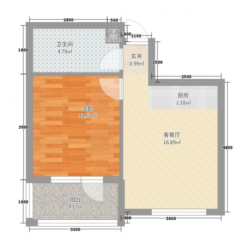 长鹭晶品枫林45.00㎡户型1室