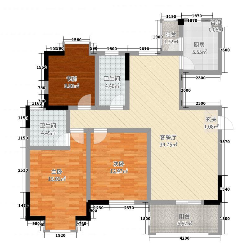 富临原山13.00㎡1户型3室2厅2卫1厨