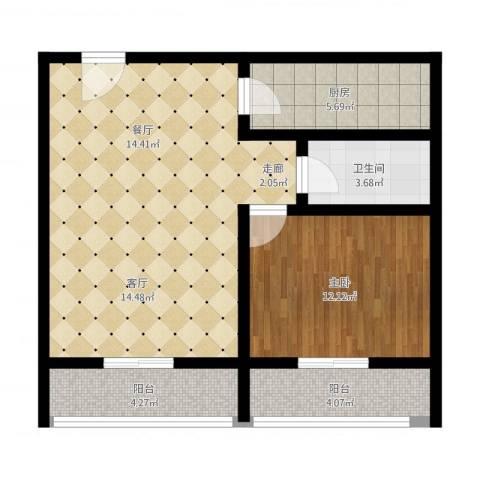 恒泰公馆1室1厅1卫1厨84.00㎡户型图