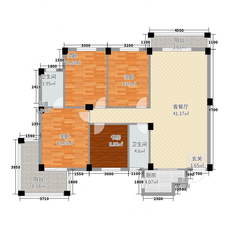 榕锦苑2O71063105118户型4室2厅2卫