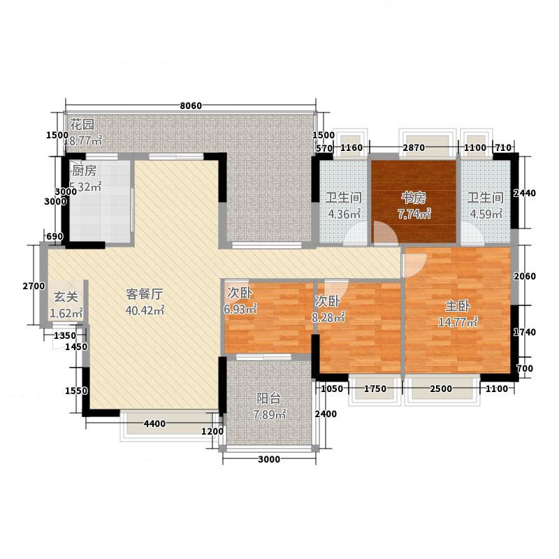 荟雅名苑146.31㎡一栋01、0户型4室2厅2卫1厨