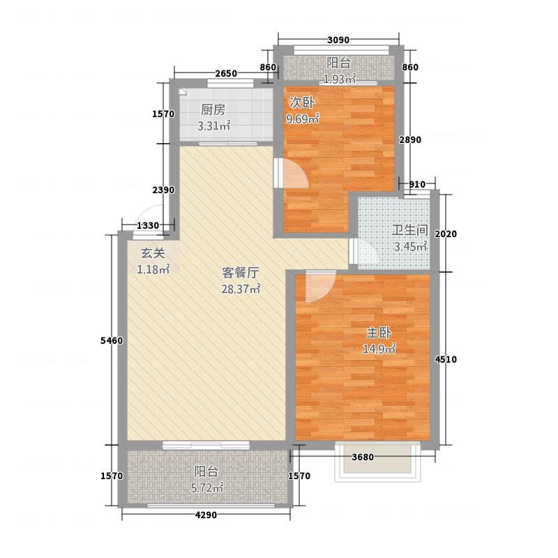 东山阳光新城户型2室