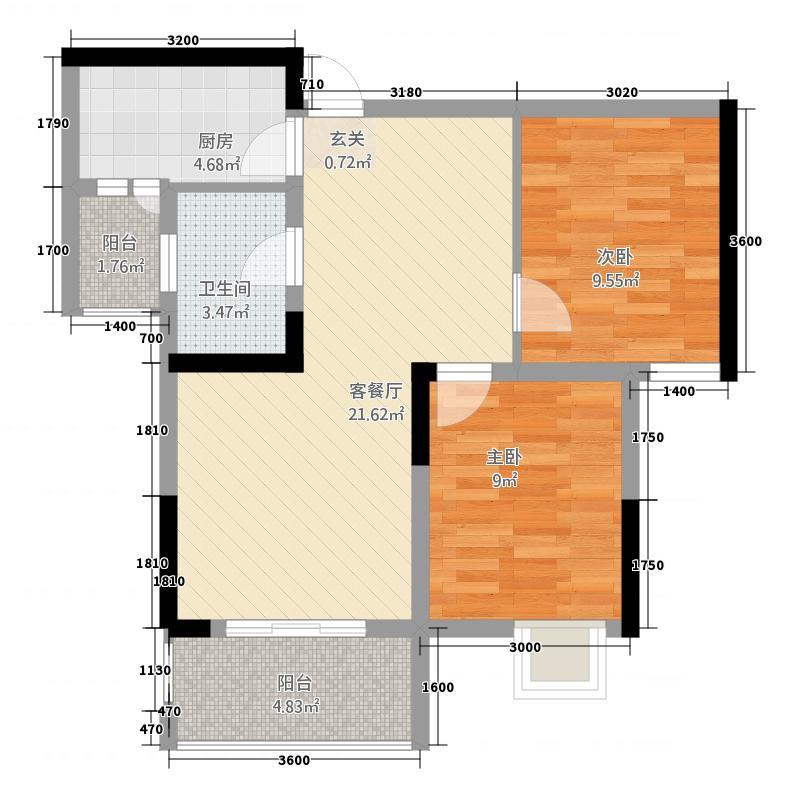 宫和西香郡二期9号楼标准层4、5号户型