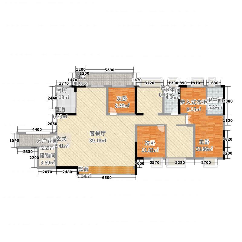 益田假日广场162.00㎡户型4室