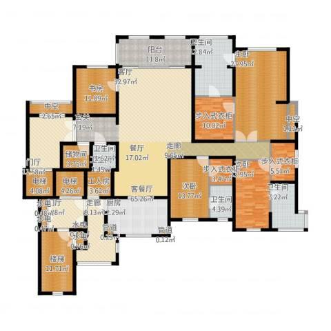 华润新江湾九里4室1厅5卫1厨378.00㎡户型图
