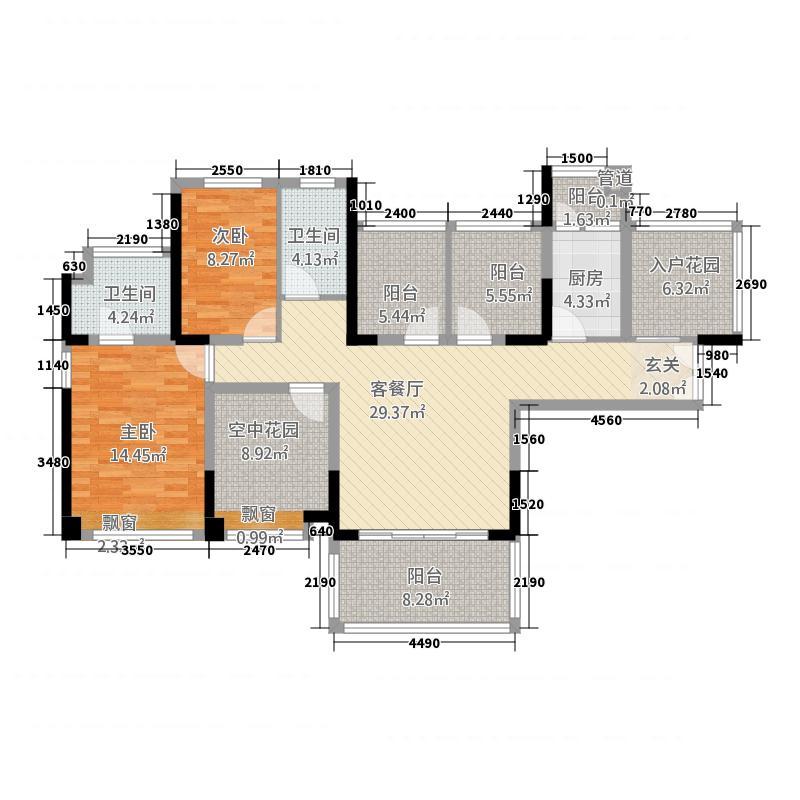 君悦龙庭165.00㎡户型4室