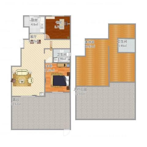 首开・缇香郡2室1厅2卫1厨223.00㎡户型图