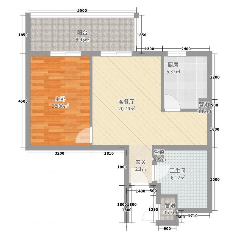 白领公寓216.00㎡户型1室1厅1卫1厨