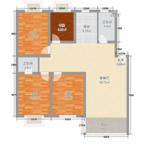 吴城仕家4室1厅2卫0厨142.00㎡户型图