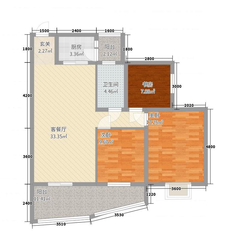 上谷地17.40㎡c4户型3室2厅1卫