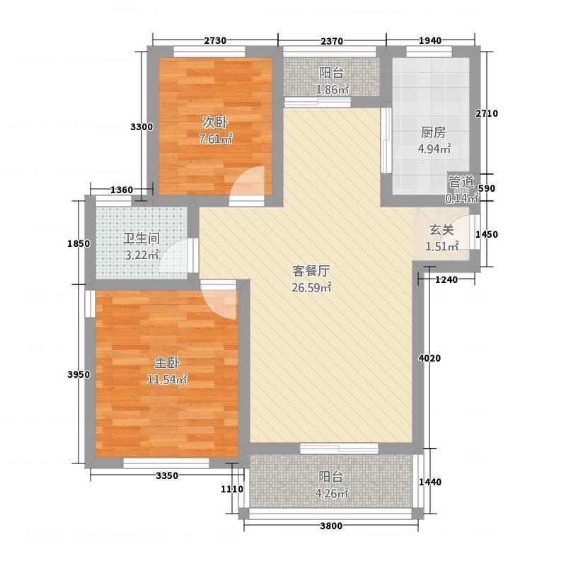 昌隆贵和苑88.40㎡A户型