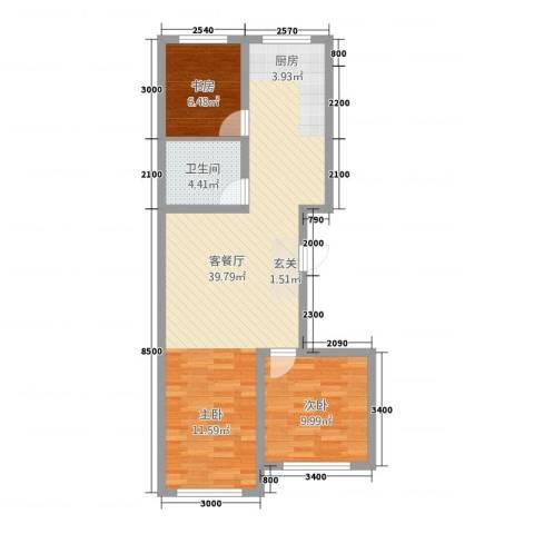 蒙东绒毛商贸城2室1厅1卫0厨60.67㎡户型图
