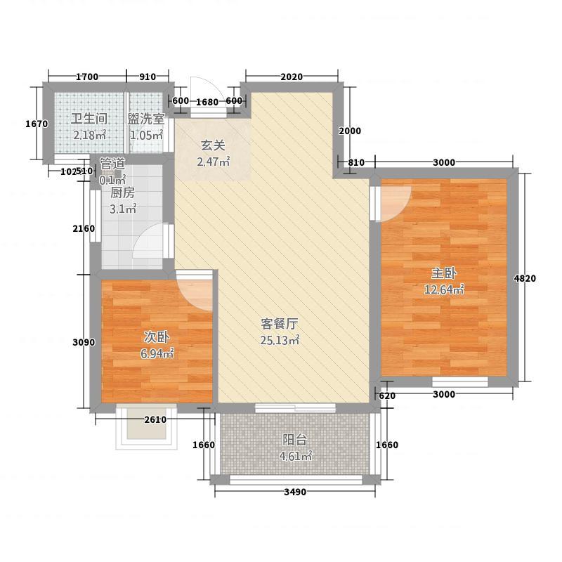 昌隆贵和苑8.00㎡贵和苑户型2室2厅1卫
