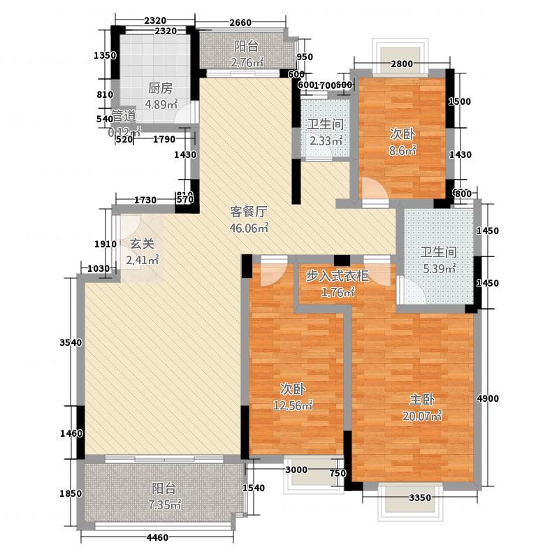 联泰香域滨江137.00㎡户型3室