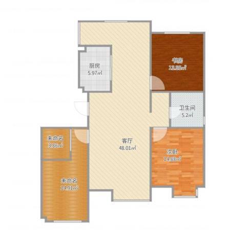 燕都第一城2室1厅1卫1厨142.00㎡户型图