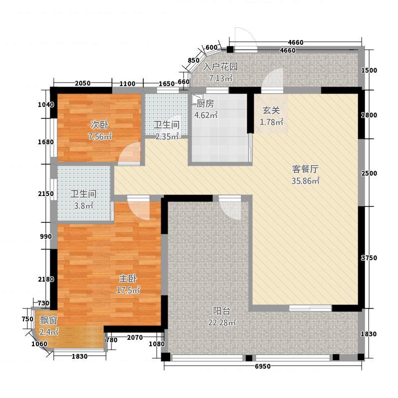 中宜尚品42211.12㎡户型2室2厅2卫1厨
