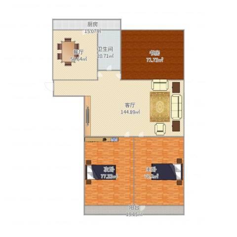 玉函路单位宿舍3室2厅1卫1厨617.00㎡户型图