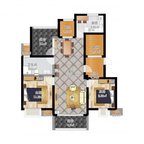 复地新都国际2室1厅1卫1厨125.00㎡户型图