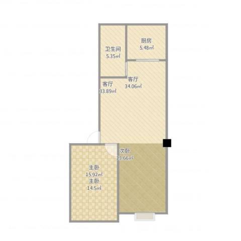 左岸・智慧城1室1厅1卫1厨79.00㎡户型图