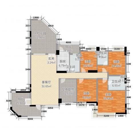 海畔嘉苑4室1厅3卫1厨268.00㎡户型图