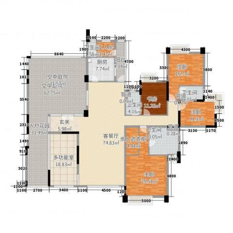 海畔嘉苑4室1厅4卫1厨363.00㎡户型图