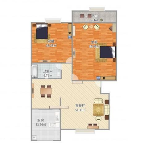 名人大第2室1厅1卫1厨189.00㎡户型图
