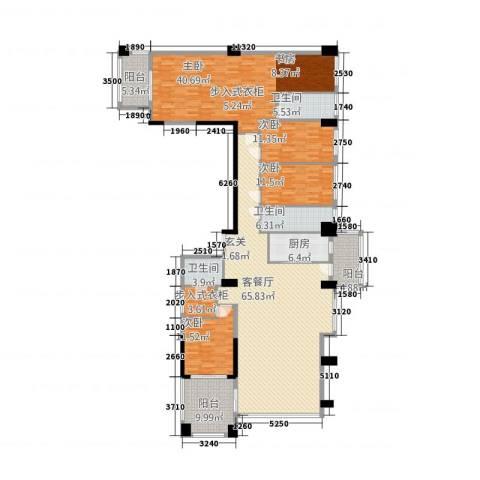 世纪海岸花园4室1厅3卫1厨262.00㎡户型图