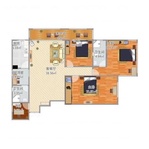 佳安公寓14室2厅2卫1厨164.00㎡户型图