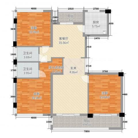华鸿・温州大公馆3室1厅2卫1厨1212.00㎡户型图
