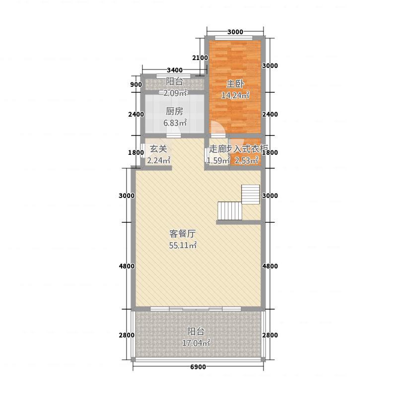金科廊桥水乡D5户型首层户型10室