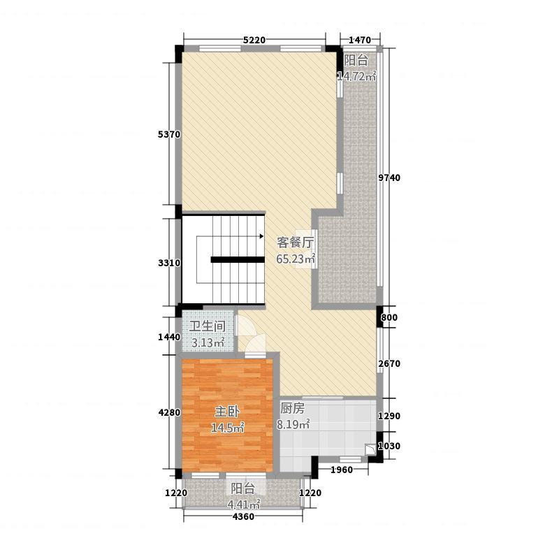 蔚蓝卡地亚黑钻46.20㎡1期1批次SPA1层户型5室4厅6卫1厨